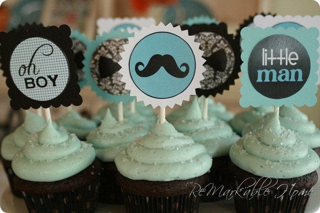 natsprat little man mustache baby shower
