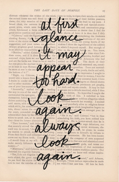 always look again