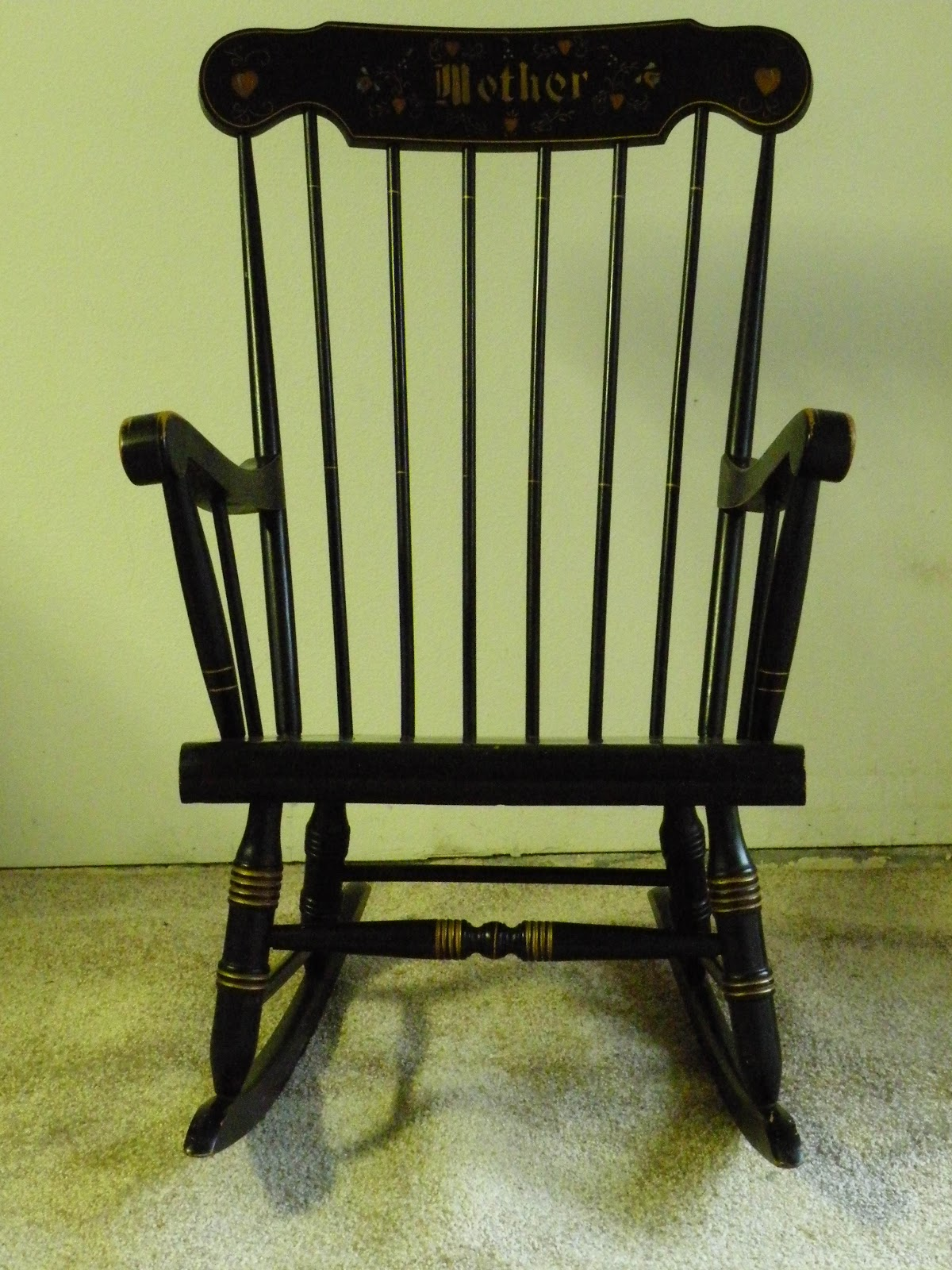 - Jim's Vintage: An Almost Antique Black Rocking Chair
