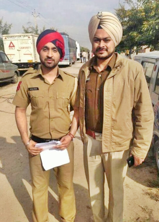 Diljit Dosanjh in Punjab Police with Cop