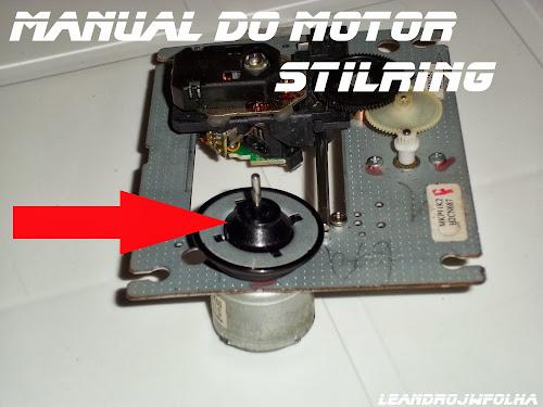 Manual do motor Stirling, máquina interna de um aparelho de DVD