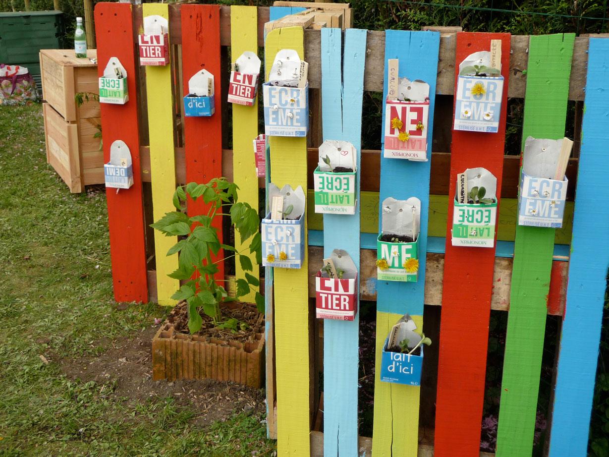 Récup Art au jardin  Jardin  Pinterest  Art