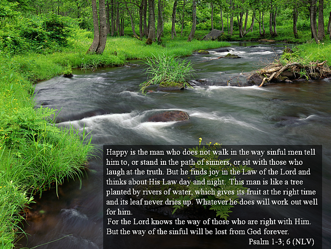 Psalm 1 Happy is the man that does not walk in the way of sinful men