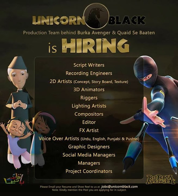 unicorn black and burka avenger is hiring new talent