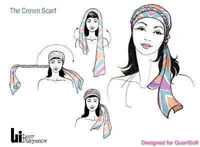 disegno illustrazione di moda (come mettere un foulard)
