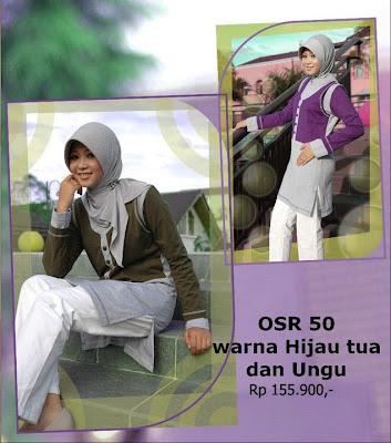 Koleksi Osmoes Kaos Muslimah Trendy Hijau Tua Ungu