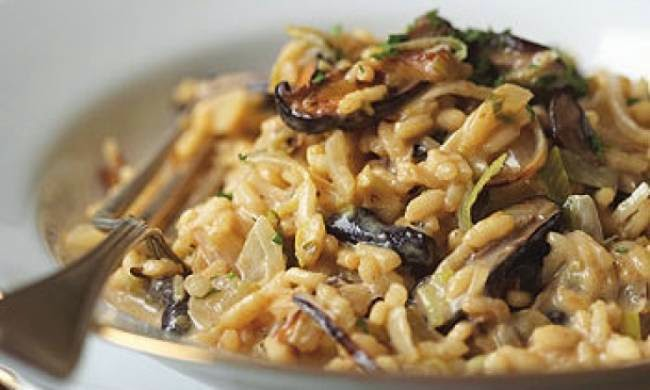Risotto with porcini mushrooms, Mediterranean Diet, Salerno recipe, South Italy Diet