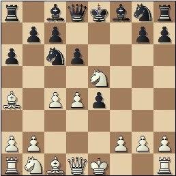 Partida de ajedrez Torán - Fuentes, posición después de 7.Cxe5!