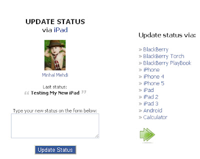 : How To Update Your Facebook Status Via ipad/ Calculator/ BlackBerry