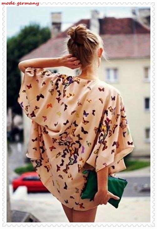 Schmetterling Bemusterte Kleider
