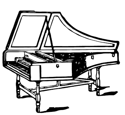 Harpsichord coloring pages kidsuki for Harpsichord coloring page