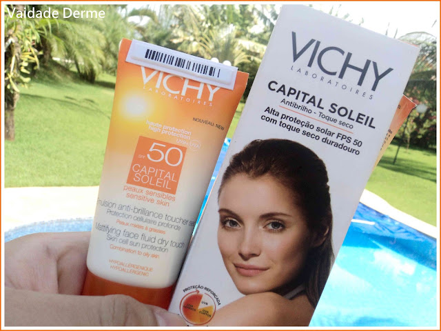 Capital Soleil FPS 50 Vichy Gel Creme Toque Seco Protetor Solar