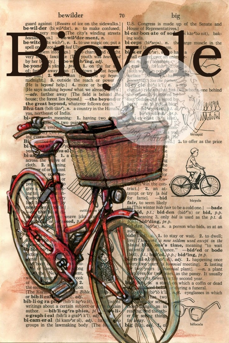 20-Bicycle-Kristy-Patterson-Flying-Shoes-Art-Studio-Dictionary-Drawings-www-designstack-co