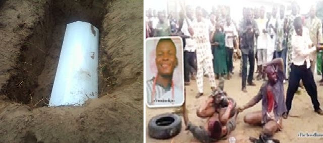 Community in Badagry were innocent men were Murdered.