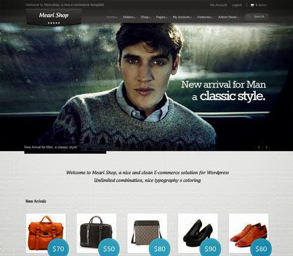 Mearishop - a Clean Responsive E-commerce Theme