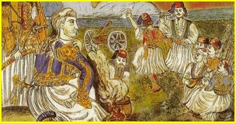 O Θεόδωρος Κολοκοτρώνης με τα παλληκάρια του
