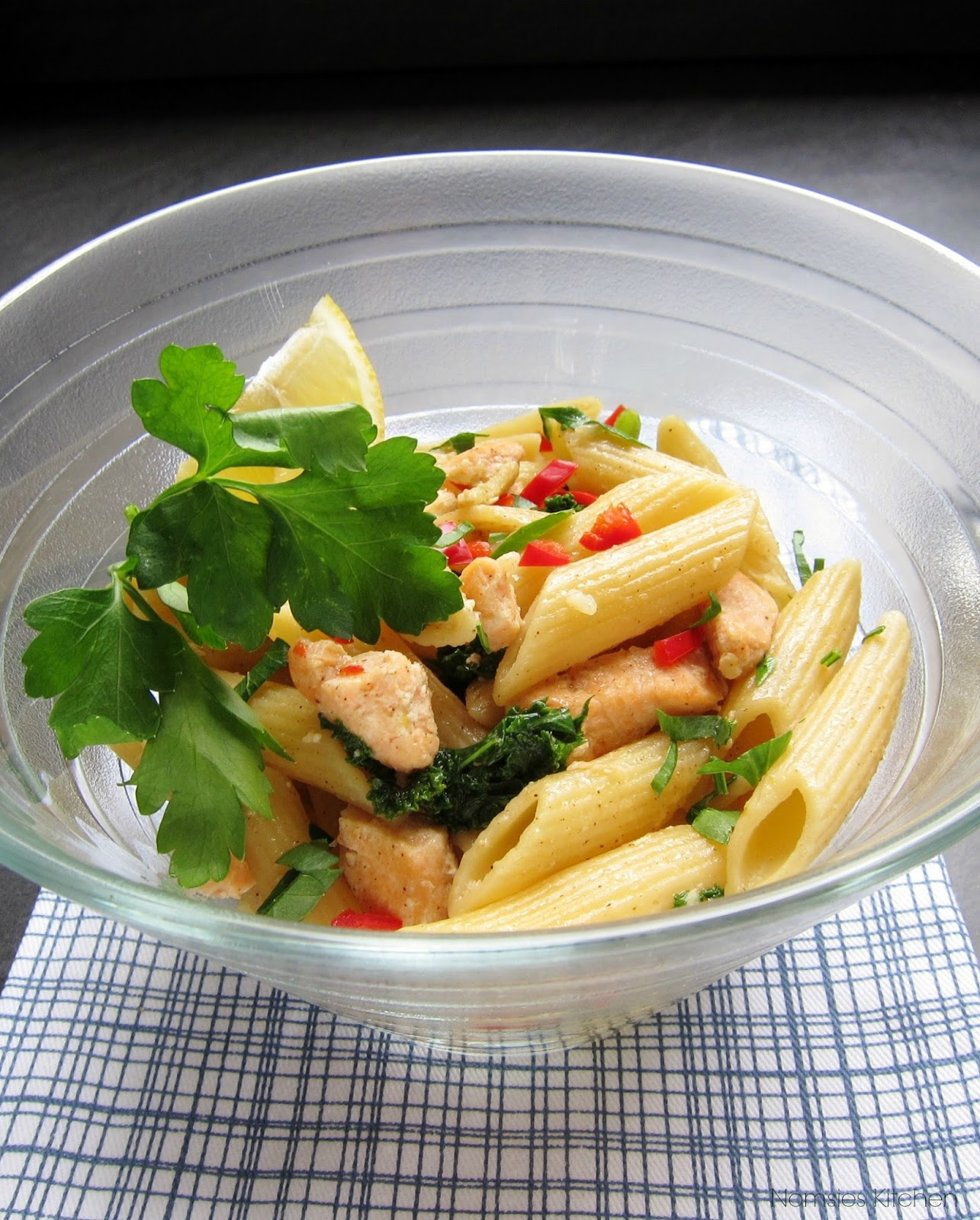 Asian Style Salmon Pasta by Nomsies Kitchen
