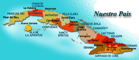 Mapa De Cuba Por Provincias