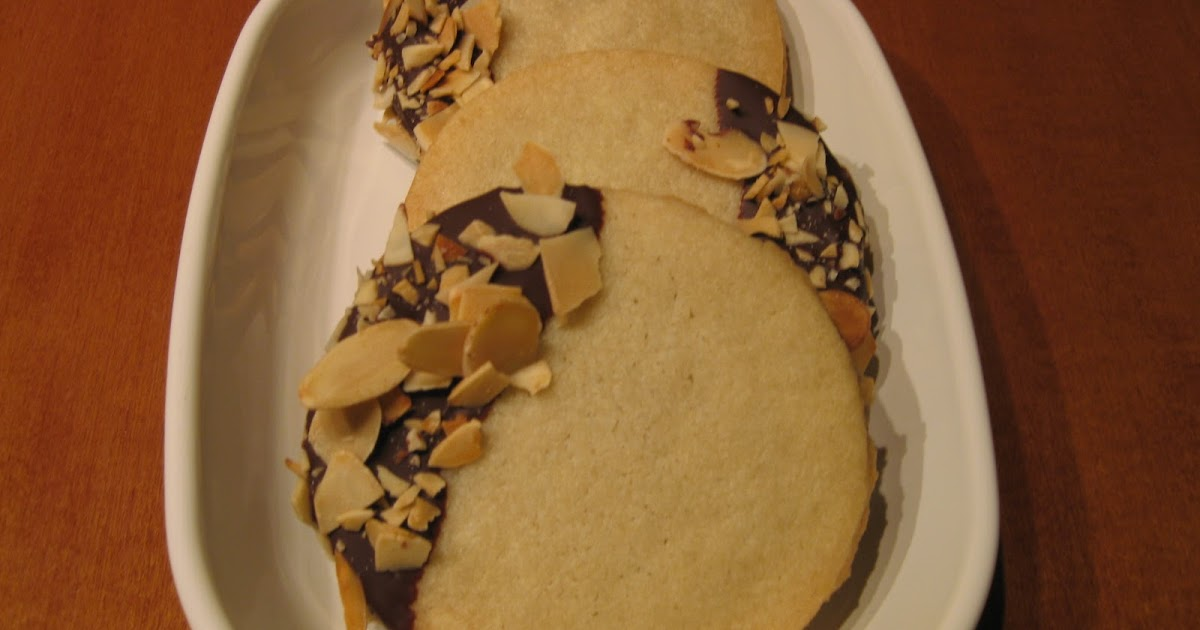 Just Messin' Around: Chocolate-and almond-dipped sandwich cookies