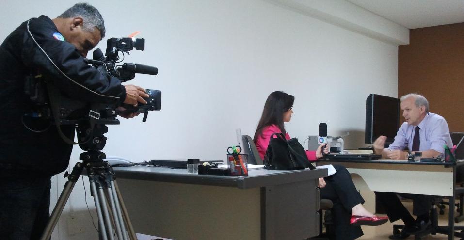 Girardi em entrevista para TV RECORD