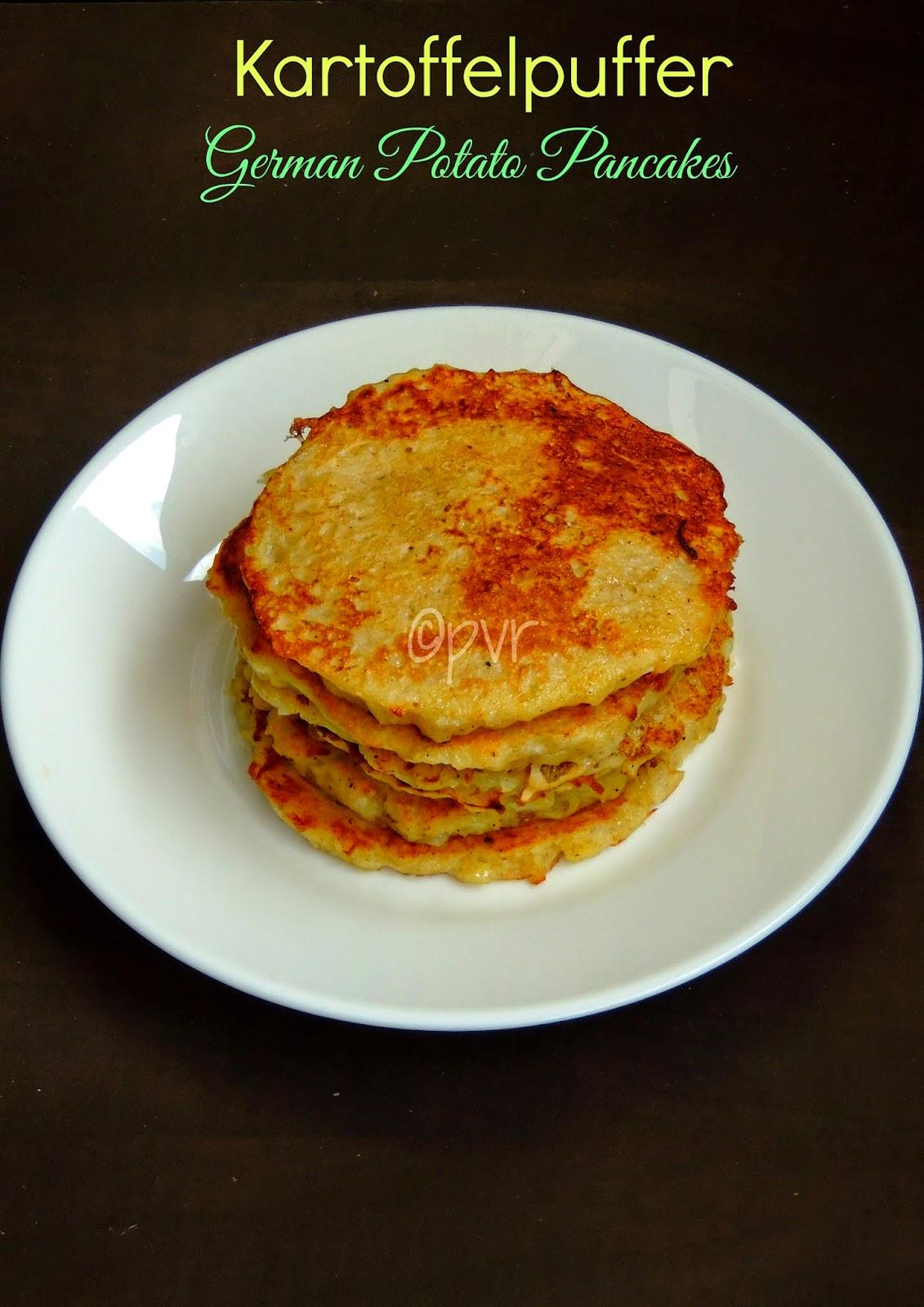 Kartoffelpuffer, Kartoffenkuche, German Potato Pancakes