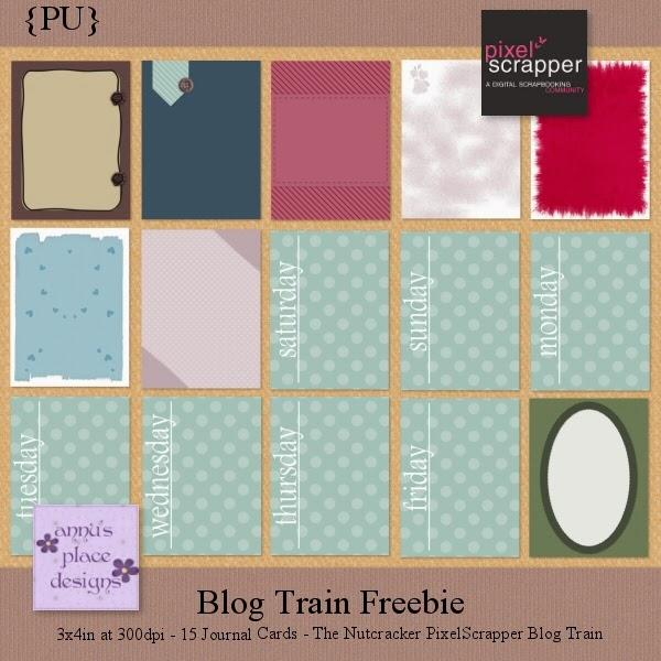 Journal Cards Freebie, mypart for PixelScrapper Blogtrain
