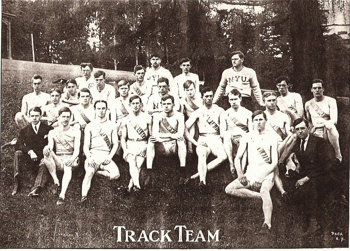 Joseph A.G. Baudermann NYU Track Team 1905