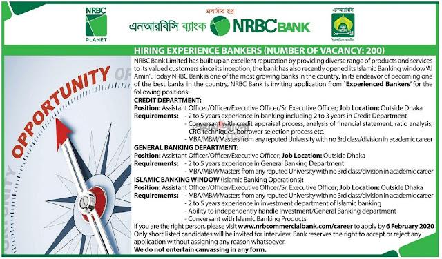 NRB Bank Job Circular February 2020