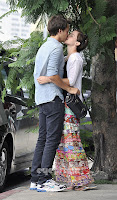 Emma Watson Kissing Johnny Simmons