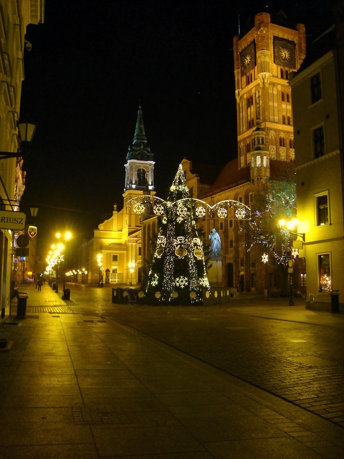 świąteczny Toruń, ratusz, choinka, stary rynek