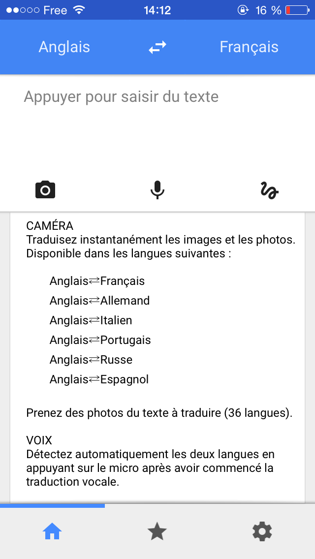 traduction google application