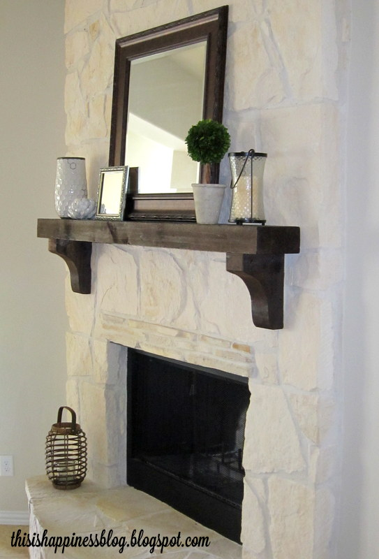 Floating shelf with monogram letters living room - Types fireplace mantel shelves choose ...
