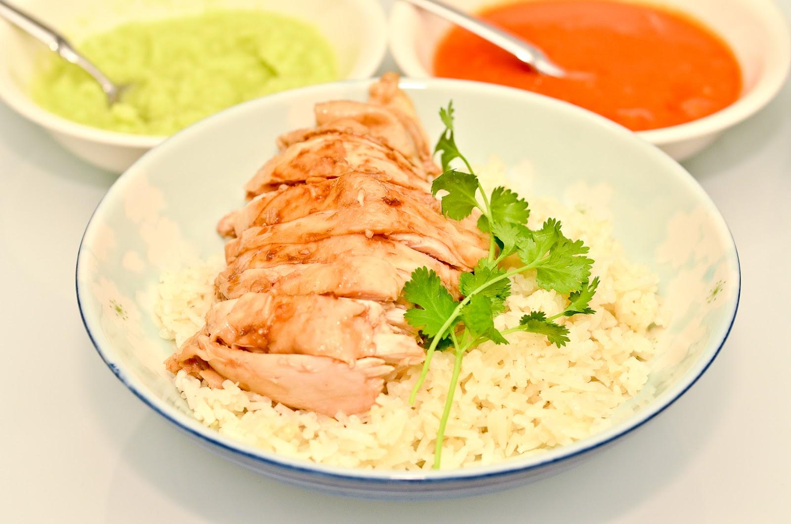 rice hainanese chicken rice recipe steamy kitchen hainanese chicken ...