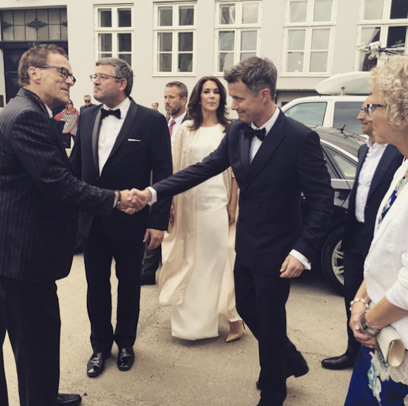 Crown Princess Mary and Crown Prince Frederik of Denmark attended the Annual Reumert Award 2015 Presentation at the Royal Danish PlayHouse in Copenhagen