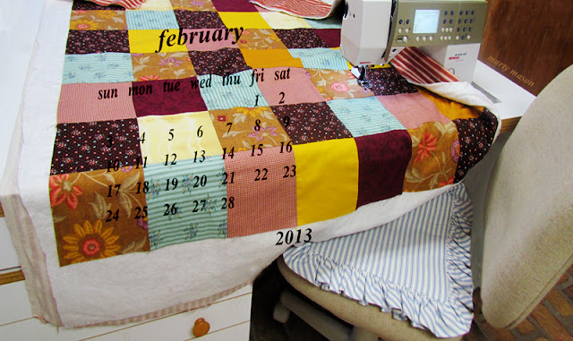 February 2013 Quilter's Calendar