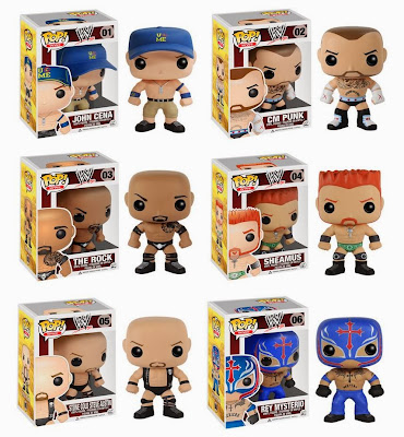 WWE Pop! Vinyl Figures by Funko - John Cena, CM Punk, The Rock, Sheamus, Stone Cold Steve Austin & Rey Mysterio