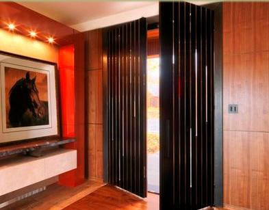Fotos y dise os de puertas puerta exterior de madera - Puertas acordeon madera ...