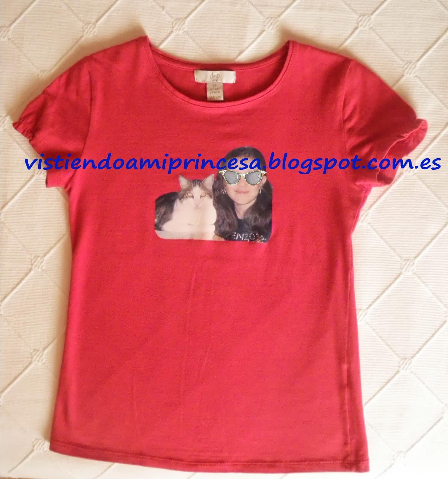 Vistiendo a mi princesa decorar camisetas con papel transfer - Decorar camisetas basicas ...