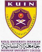 Logo Kolej Universiti Insaniah (KUIN) - http://newjawatan.blogspot.com/