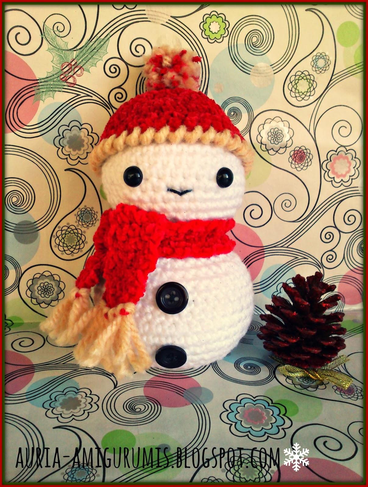 Muñeco de nieve. Ya esta aquí la Navidad!! | Auria Amigurumis