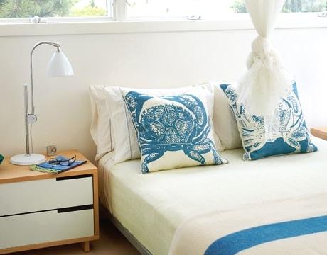 bedroom crab pillows