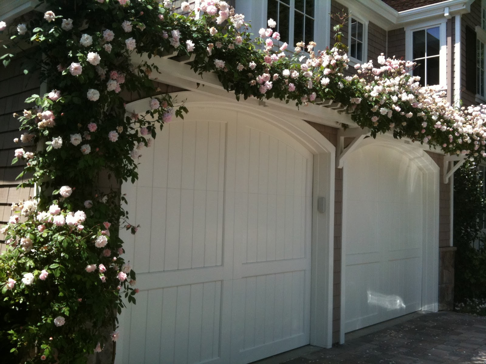 Trellis over garage door - May