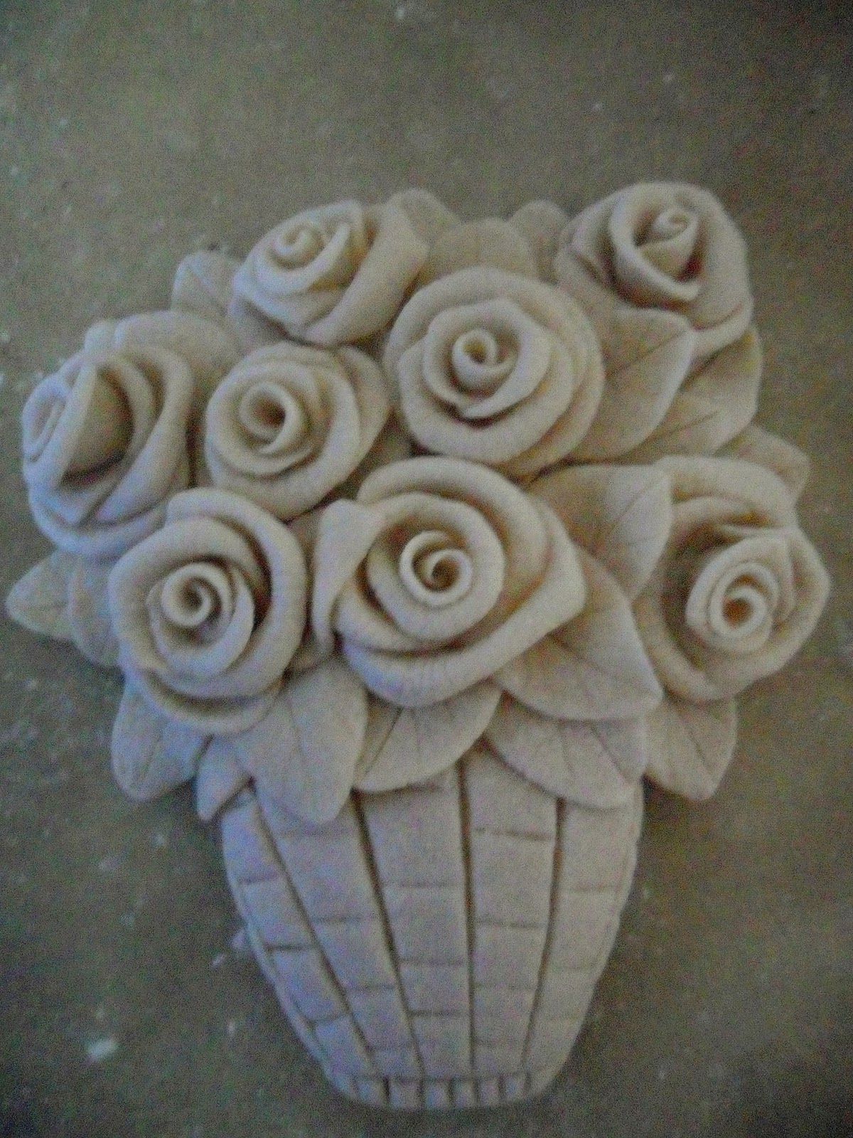Цветы и листья из соленого теста мастер-класс - Колобок 20