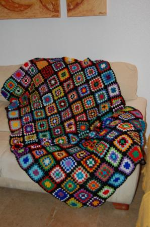 Como mi abuela febrero 2011 - Mantas lana ganchillo ...