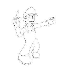 #4 Luigi Coloring Page