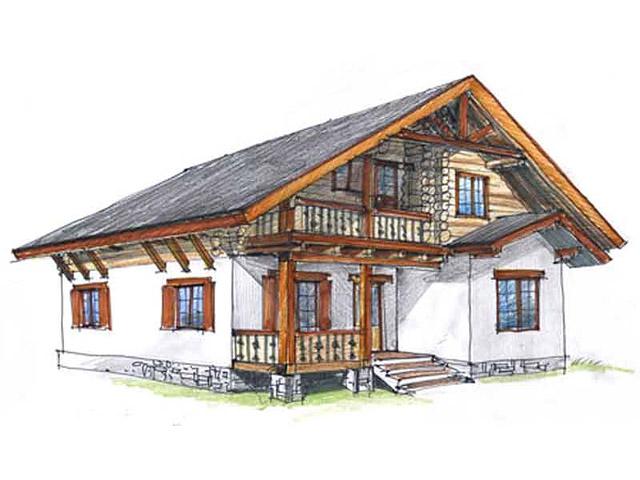 дома в стиле шале фото небольшие