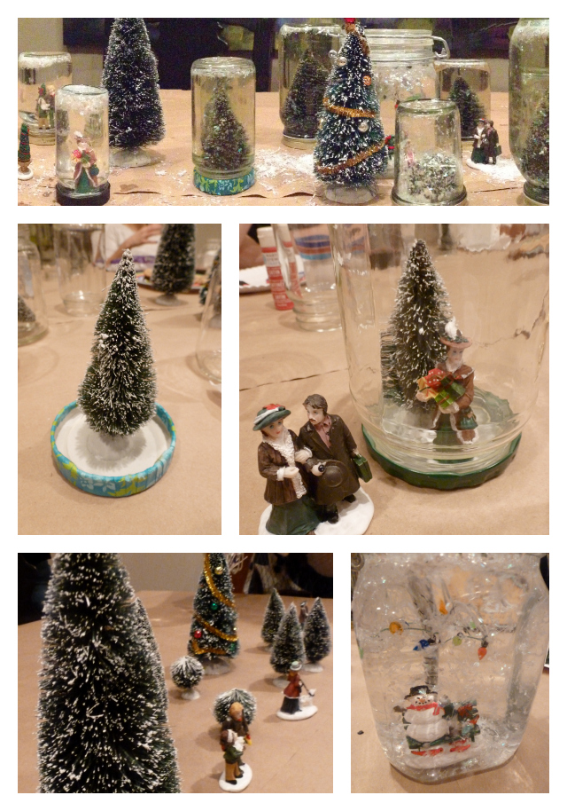 homemade snow globe