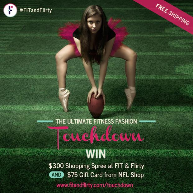 FIT & Flirty, Fitness Fashionista, Sweat Pink, NFL, Giveaway
