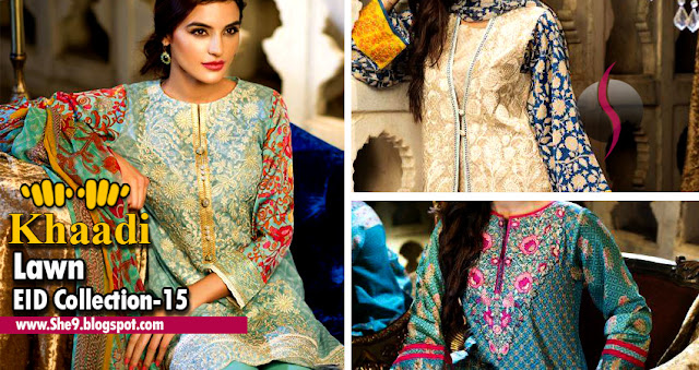 Khaadi Fancy Embroidered Eid Lawn Dresses