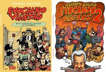 """Rescate – estudio y crítica de historieta: libros """"EVOCANDO VIÑETAS 1 y 2"""" de Germán Cáceres"""